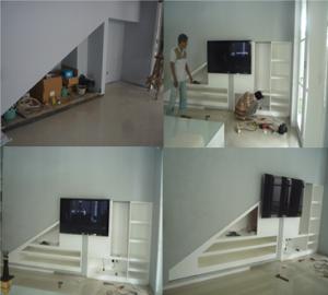 Backdrop TV- Proyek Pasar Rebu - Dwitama Arsindo